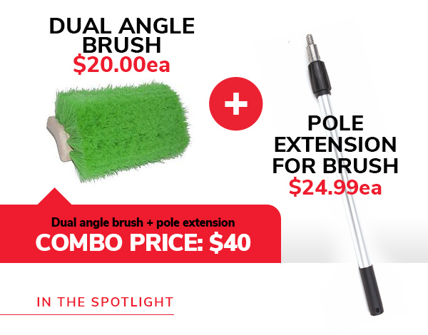 Dual Angle Brush and pole extension