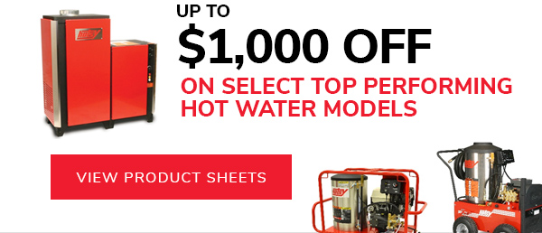 Hot water models up to $1,000 off