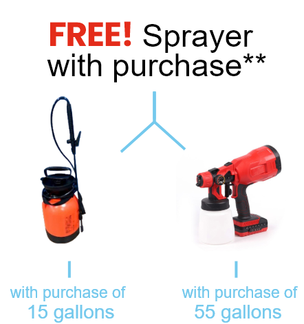 Free Sprayer with purchase **